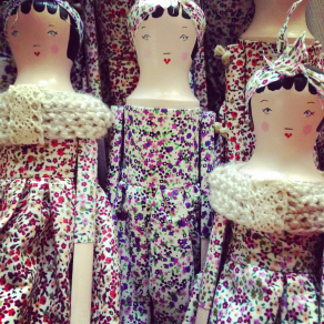 wood doll ditsy collection