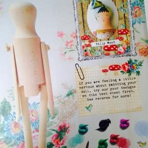 Wood doll packaging sheet