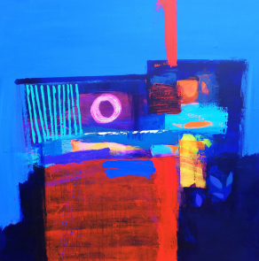 AFTER-MIDNIGHT-2-Acrylic-on-Canvas-100cm-x-100cm