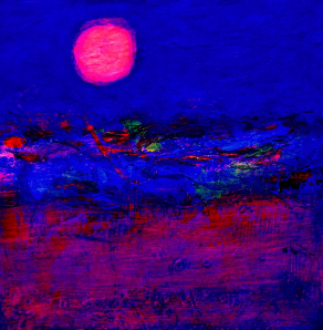 NIGHT-ON-THE-ANCIENT-SILK-ROUTE-Acrylic-on-Canvas-76cm-x-76cm